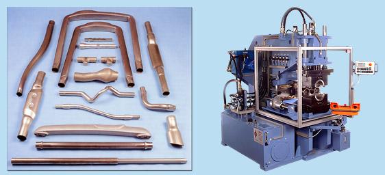 станок для формовки труб и примеры гидроформинга