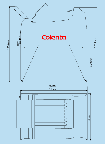 ширина и высота машины для проявки пленки
